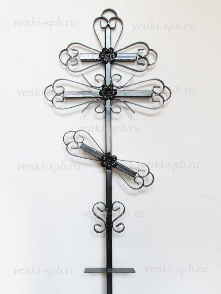 Крест металлический М1 малый - Фото 1 | Компания «Венок»
