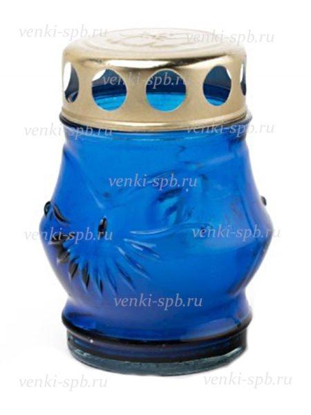 Лампада неугасимая — малая (синяя) - Фото 1 | Компания «Венок»