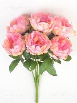 Букет искусственных пионов Винслов розовый