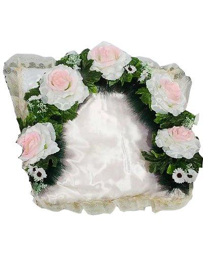 Гирлянда в изголовье с розами малая - Фото 2   Компания «Венок»
