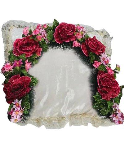 Гирлянда в изголовье с розами малая - Фото 1   Компания «Венок»