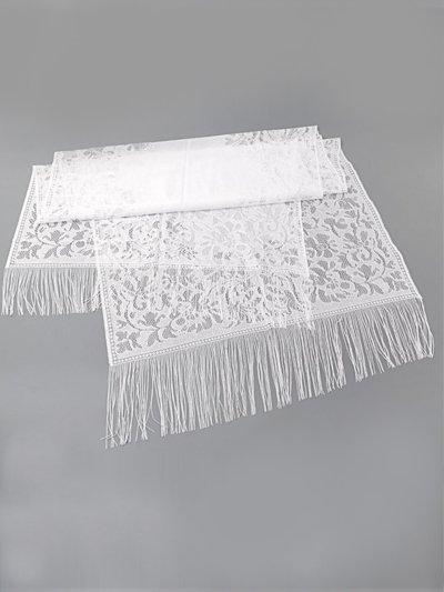 Платок для умершей белый кружевной с бахромой - Фото 2 | Компания «Венок»