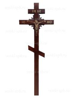 Купить сосновый крест с угловым узором в СПб