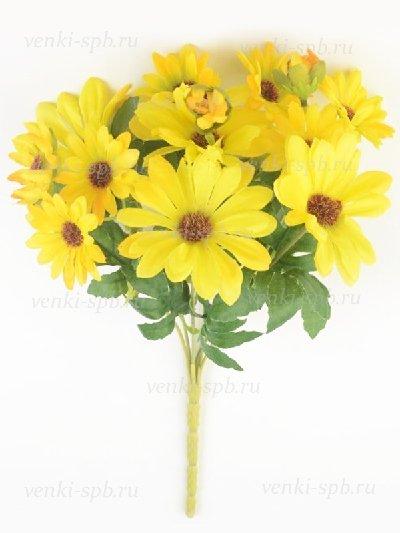 Букет гербер Уик- желтый - Фото 1 | Компания «Венок»