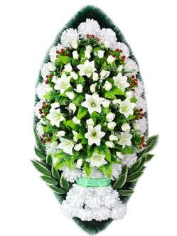 Элитный ритуальный венок Белозерский купить в спб