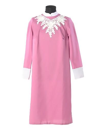 Платье для погребения «Милорада» — брусничное - Фото 1 | Компания «Венок»