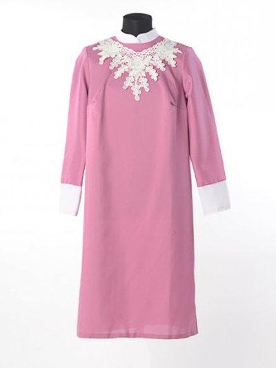 Платье для погребения «Милорада» — брусничное - Фото 2 | Компания «Венок»
