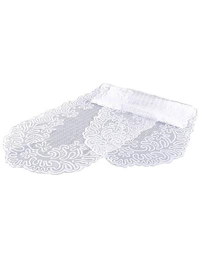платок кружева белый