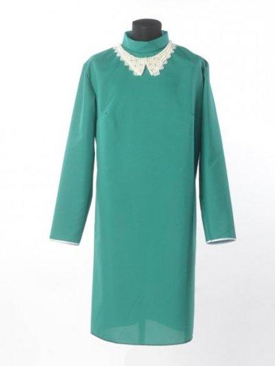 Платье для погребения с жемчужным воротником – зеленое - Фото 2 | Компания «Венок»