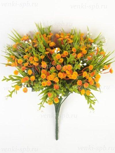 Букет гипсофилы Шатель — оранжевый - Фото 1 | Компания «Венок»