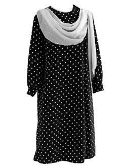 Похоронное платье с шелковым шарфом в спб