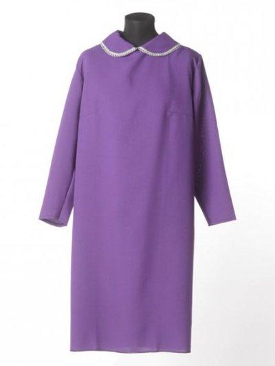 Платье в гроб простое черничное - Фото 2 | Компания «Венок»