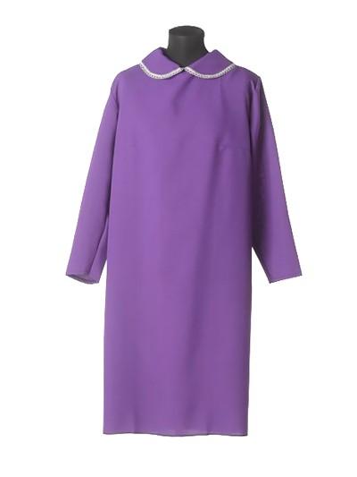 Платье в гроб простое черничное - Фото 1 | Компания «Венок»