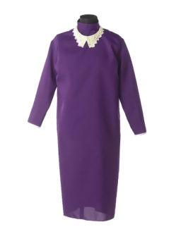 Черничное платье в гроб с жемчужным воротником в спб