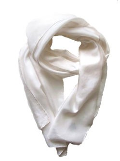 Белый шелковый шарф на голову умершей женщине купить в спб