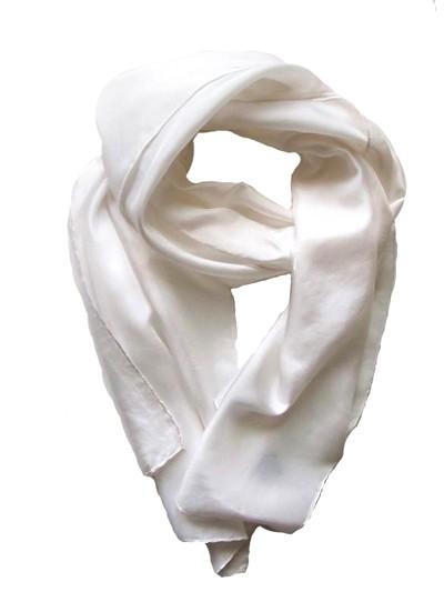 Платок для умершей белый шелковый - Фото 1   Компания «Венок»