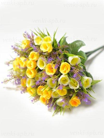 Букет бутонов роз Биднел 36 соцветий — желтый - Фото 1 | Компания «Венок»