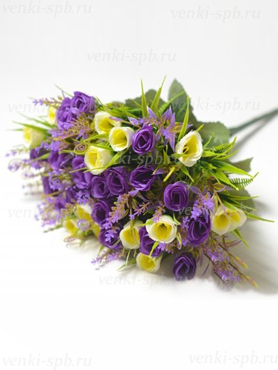 Букет бутонов роз Биднел 36 соцветий – фиолетовый - Фото 2 | Компания «Венок»