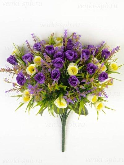 Букет бутонов роз Биднел 36 соцветий – фиолетовый - Фото 1 | Компания «Венок»