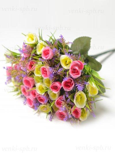 Букет бутонов роз Биднел 36 соцветий — малиновый - Фото 1 | Компания «Венок»