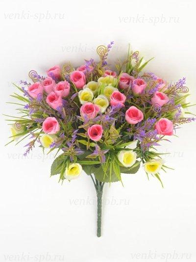 Букет бутонов роз Биднел 36 соцветий — малиновый - Фото 2 | Компания «Венок»