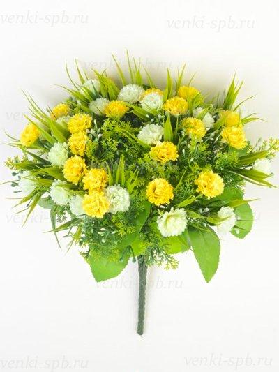 Букет гвоздики Винчкомб 36 соцветий — желтый - Фото 2 | Компания «Венок»