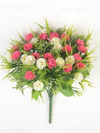 Букет гвоздики Винчкомб 36 соцветий – малиновый - Фото 2 | Компания «Венок»