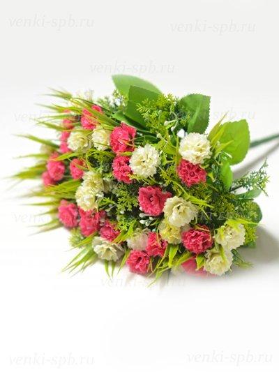 Букет гвоздики Винчкомб 36 соцветий – малиновый - Фото 1 | Компания «Венок»