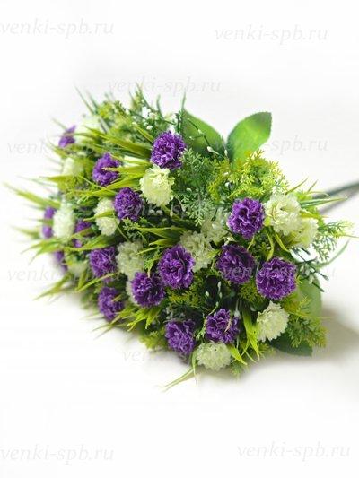 Букет гвоздики Винчкомб 36 соцветий – черничный - Фото 2 | Компания «Венок»
