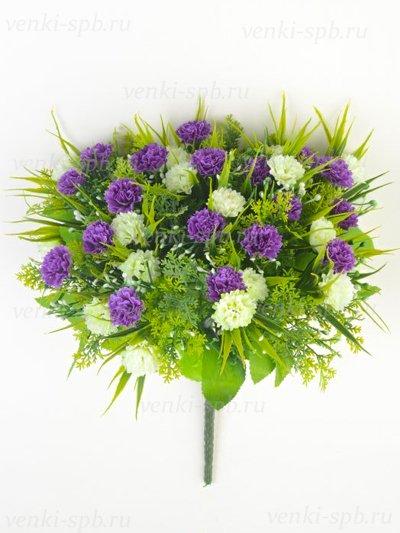 Букет гвоздики Винчкомб 36 соцветий – черничный - Фото 1 | Компания «Венок»