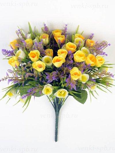 Букет бутонов роз Биднел 36 соцветий — желтый - Фото 2 | Компания «Венок»