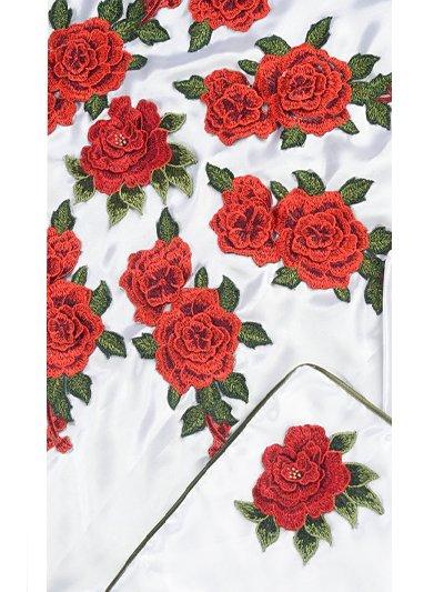 Покрывало и наволочка в гроб комплект «Розы» - Фото 2 | Компания «Венок»