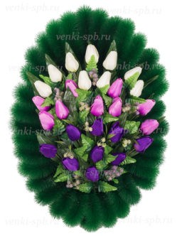 Венок на похороны в Санкт-Петербурге Тюльпаны