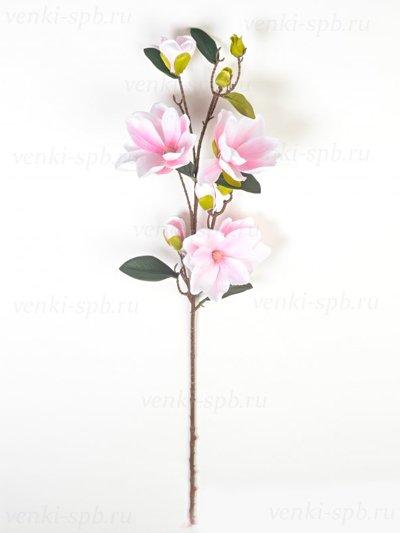 Искусственные цветы Ветка магнолии Бадези — розовая - Фото 1   Компания «Венок»