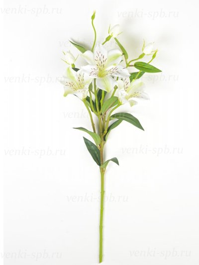 Искусственные цветы Ветка лилейника Капальбио — белая - Фото 1 | Компания «Венок»