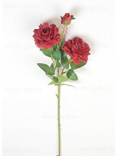 Искусственные цветы Ветка розы Виллаго — красная - Фото 1 | Компания «Венок»