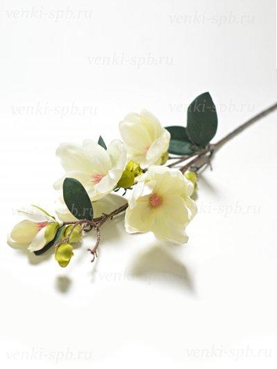 Искусственные цветы Ветка магнолии Бадези — белая - Фото 1 | Компания «Венок»