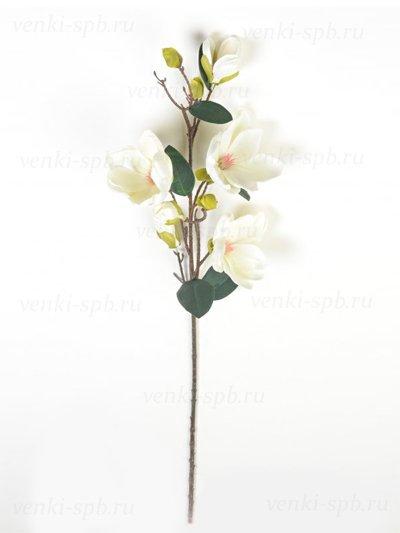 Искусственные цветы Ветка магнолии Бадези — белая - Фото 2 | Компания «Венок»