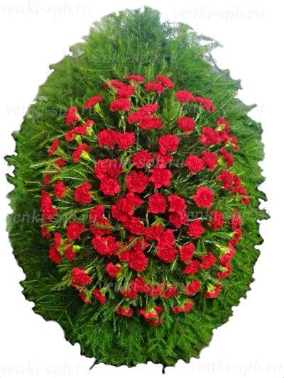 Венок из живых цветов №52 - Фото 1 | Компания «Венок»