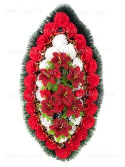 """Траурный венок на похороны """"Вальс с лилиями"""""""