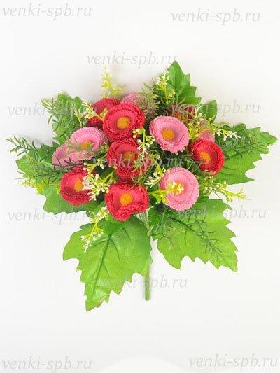 Искусственные цветы Букет маргариток ЛонгБич — розовый - Фото 1 | Компания «Венок»