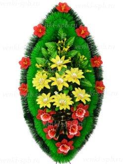 Венок из искусственных цветов Семицветик