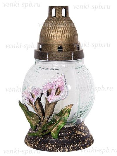 Лампада большая «Каллы» белоснежная - Фото 1 | Компания «Венок»