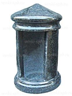Гранитная лампада №8 черный Габбро Букинское