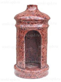 Лампада на могилу в спб из красного гранита №12