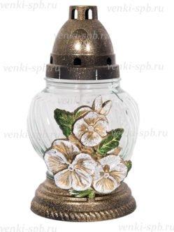 Лампадка неугасимая Цветы белоснежная 1