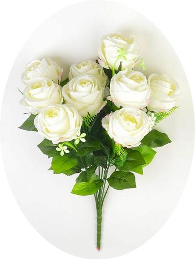 Букет бутонов роз ДИЗЕРТ белый - Фото 1   Компания «Венок»
