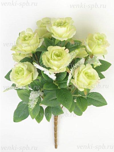 Искусственные цветы Букет бутонов роз Турифф — светло-лимонный - Фото 2 | Компания «Венок»