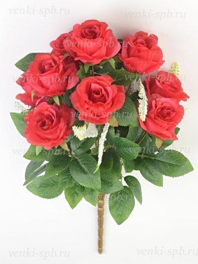 Искусственные цветы Букет бутонов роз Турифф — малиновый - Фото 1 | Компания «Венок»