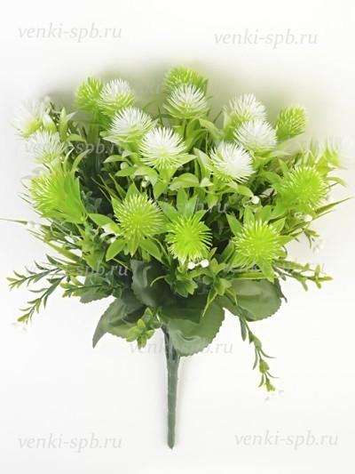 Искусственные цветы Букет пластиковый Бармут — белый - Фото 2 | Компания «Венок»